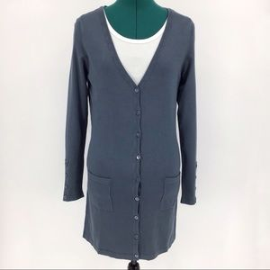Yest Yaella Thigh Length Cardigan with Pockets, 4